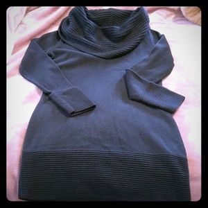 H&M Navy Tunic Sweater or Dress ... EUC